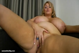 Cute chubby girl plays with her dildo.