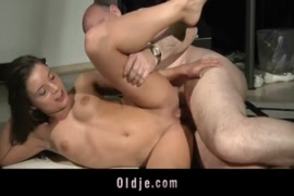 Young babe sucks cock to cum while fucking.