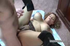 Thick milf is taking his dick bareback.