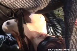 Cumshot and facial on wife in the park pt1.
