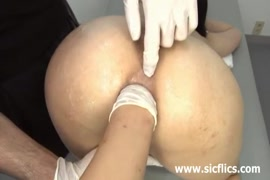 Sissy slut with huge ass in tight dress.