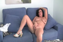 Mature mom gets fucked by her son.