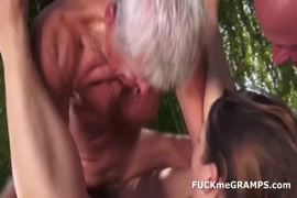 Sexy young wife fucked by two lucky cocks.