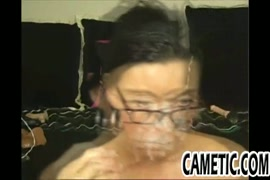 Seductive milf jessica brazil fucks her pussy with glass dildo.