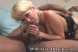 Fucking a black cock while he moans.