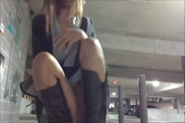 Sucking cock in the parking garage until you cum.