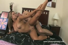 Hot brunette slut takes a cock in all three holes live.