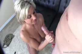 Big cock daddy with huge cumshot on body and face.