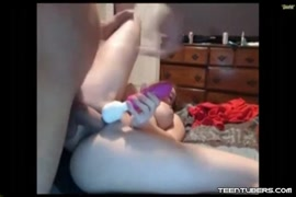 Fucking a redhead slut from behind she cant stop creaming