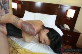 Big booty asian milf rides huge cock in pov and gets huge facial