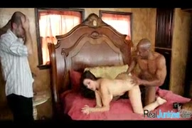 Tattooed beauty gets fucked by big black cock.
