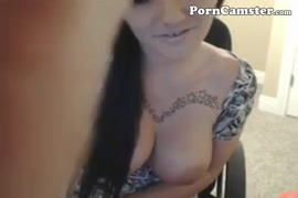 Masturbating on a chair until the camera is on my boobs.