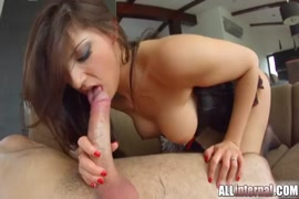 Young petite brunette gets her first anal and creampie.