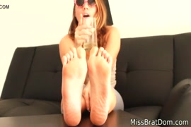 Nylon feet with socks for feet worshiping