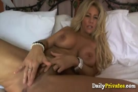 Big tits milf gets pounded and cummed on.