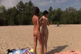 Masturbating on the public public beach