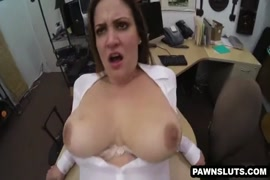 Big tit babe gets rough fucked in both holes.