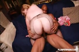 Bbw gets fucked by a white cock on my black bed.