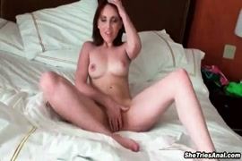 Fucking a young slut on the balcony before her.