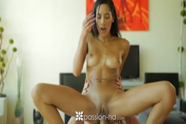 Hot girl rubs on her body and ass.