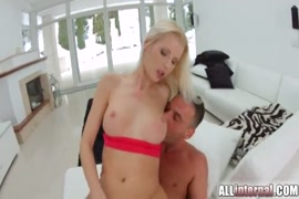 Fucked by a sexy blonde. the end is huge and creampie.