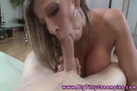 Hot busty milf diane gets her mouth pussy stuffed with cock.