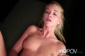Hot blonde camgirl with big tits masturbating.