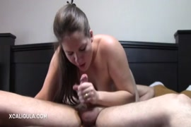 Pov bj and deepthroat blowjob with sexy babe and cum in mouth.