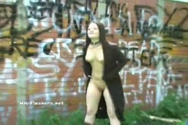 Sensual blowjob by petite brunette in public.