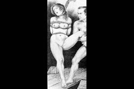 Femdom bdsm domination and extreme bondage and hot strap on lesbian.