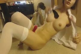 Masturbate on cam with butt plug.
