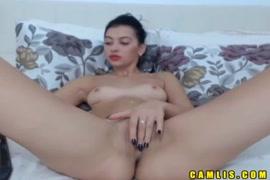 Hot chick plays with tight pussy.