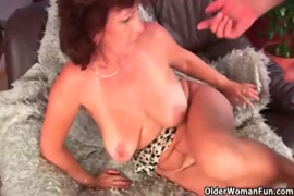 Cock hungry babe with hairy pussy takes huge load on her face.