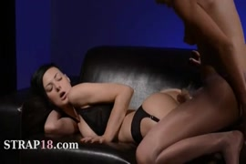 Masturbates by sucking dick and fisting with rubber dick.