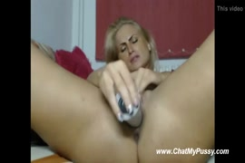 Busty milf is getting rough with big dildo.