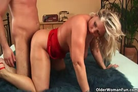Young babe with big tits gets rough fucked by mature daddy and creampied.