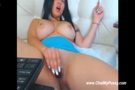 Naked girl masturbation with dildo.
