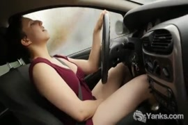 Masturbating to a great ass in the car.