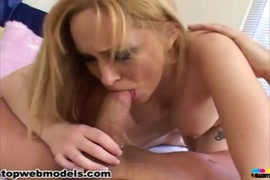 Big tits blonde in black lingerie is fucked hard.