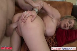 Busty mom loves to get creampie when her pussy gets pounded