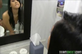 Cute latina teen sucks and fucks bf's cock.