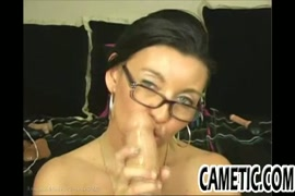 Hot milf fucks her pussy hard with a dildo.