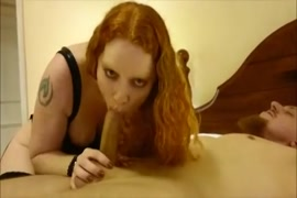 Naughty amateur wife gives a sexy blowjob.