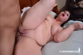 Big booty brunette rides big cock gets a creampie.