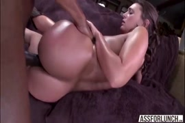 Tgirl with perfect body sucks and gets fucked hard by black cock.