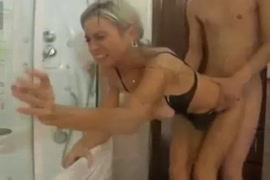 Thai young girl fucked doggy-style while mom was home.