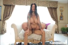 Busty milf gets hot cumshot from young stud.