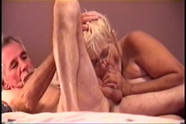 My wifes ex playing with my cock in bed.