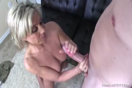 Solo play with a huge cock, cumshot all over his chest.