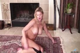 Hot milf in lingerie gets pussy slammed till she creams.